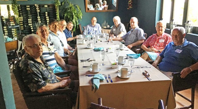 Knights of Cortés breakfast meeting at Bajo La Luna in downtown Cabo San Lucas.